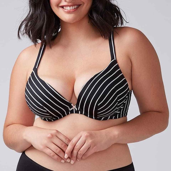 0adb5a948a Lane Bryant Cacique Smooth Boost PushUp Plunge Bra